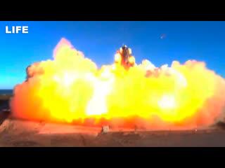Прототип корабля для полётов на Марс взорвался во время испытаний