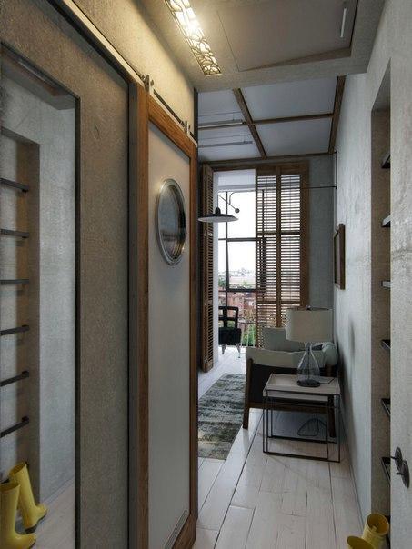 Проект квартиры площадью 26 кв.