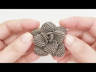 How to make a Flower Beaded Brooch. Brick stitch. Beading tutorial. Beads Jewelry Making