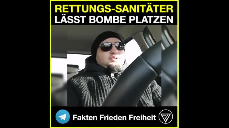 Telegram FFF Sanitäter lässt Bombe