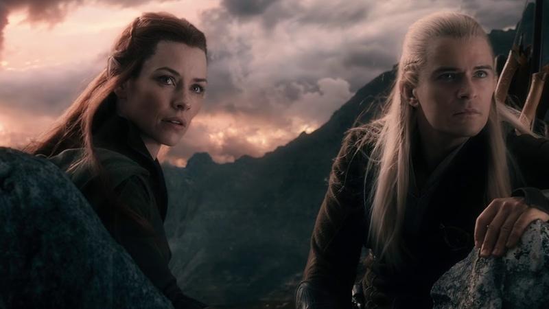 Леголас и Тауриэль добрались к горе Гундабад. Леголас рассказывает о своей матери. HD