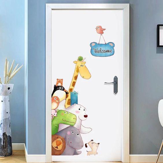 Забавные картинки для двери