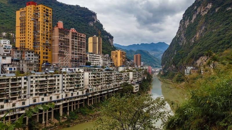 Самый узкий город в мире Китай