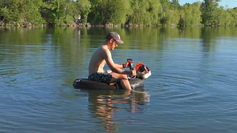 KREOSAN ✅Юркая лодка из Мото Косы и камеры от Камаза ⚓ Сделай и себе такой же прогулочный катер