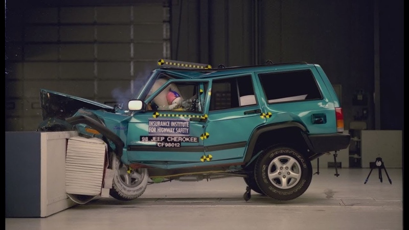 1998 Jeep Cherokee Moderate Overlap Crash Test IIHS