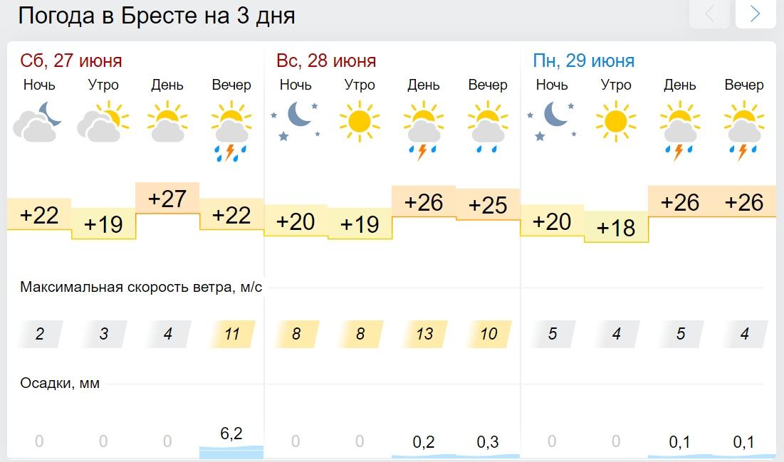 Оранжевый уровень опасности объявлен по западу Беларуси во второй половине дня из-за гроз