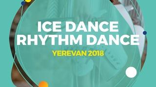 Ushakova Arina / Nekrasov Maxim (RUS) | Ice Dance Rhythm Dance | Yerevan 2018