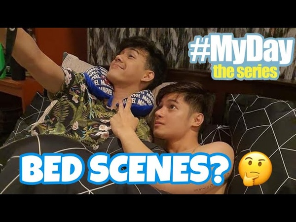 Myday the series' Aki and Miko BED SCENES clips and more BTS