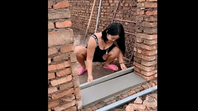 Everyone should watch this worker's video Ingenious construction workers