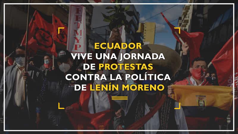 Ecuador vive una jornada de protestas contra la política de Lenín Moreno