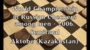 Tsinman Dmitriy (RUS) - Tokusarov Ivan (RUS). World_Russian Checkers_Men-2006. Semifinal.