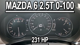 Mazda 6  231HP 0-100 acceleration 2020
