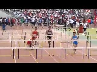Чемпионат Китая по бегу 110 м с барьерами, я под столом))))