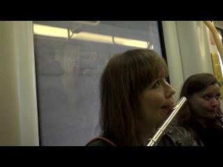 """Flash mob in the copenhagen metro. copenhagen phil playing """"peer gynt""""."""