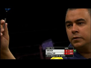 Sweden vs Gibraltar (PDC World Cup of Darts 2014 / First Round)
