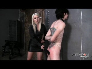 Femdom Empire - Slave Spanking and Strapon Milking