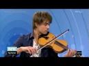 Alexander Rybak in the news program Dagsrevyen after his violin exam at Barrat Due 07 06 2012