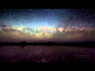 Видео Млечного Пути над озером Тайрелл, Австралия