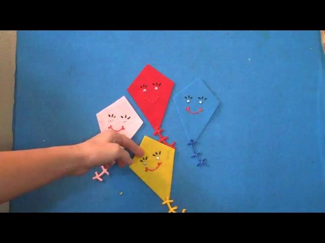 Английский язык Мини занятия на фланелеграфе Five Little Kites