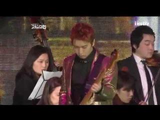 111229  SBS Gayo Daejun. Henry, Sungmin, Siwon, Ryeowook & Kyuhyun, etc. - SM Orchestra