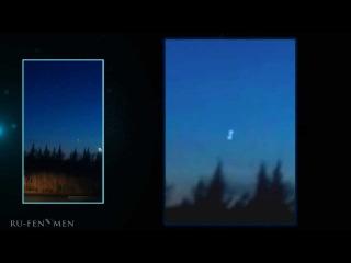 UFO, 2 glowing orbs over Sacramento, USA, Feb 28 2013 zoomed & slowed