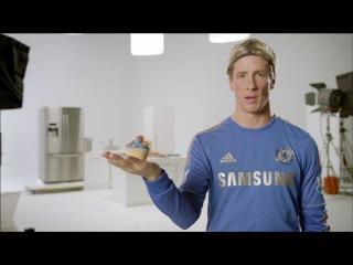 Fernando Torres in the kitchen