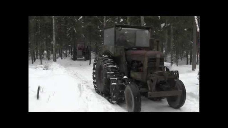 Min film Veteran traktorer skogskörning Kumla 16 2 2013