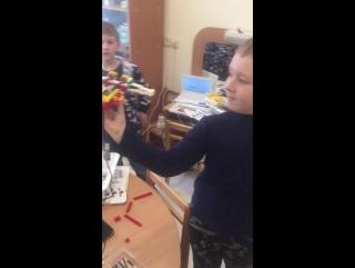 Видео с занятия робототехникой. Мегалего робоклуб