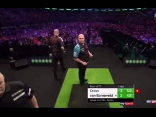 Rob Cross vs Raymond van Barneveld (2018 Premier League Darts / Week 4)