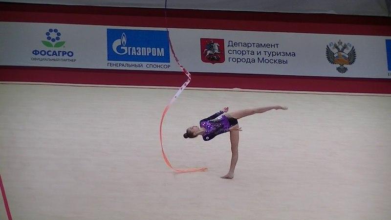 Kamenshchikova Anna (BLR) ribbon Moscow YOG Qualification 2018