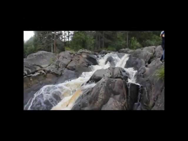 Водопад Ахвенкоски 2015 и кадры из к/ф А зори здесь тихие