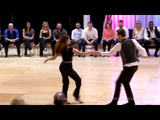 Sean McKeever & Jessica Cox Capital Swing 2015 Champion Strictly Winners