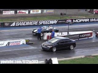Драг Рейсинг Honda Civic Si vs Shelby Cobra Drag Race