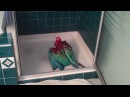 Macaw can't wait to shower