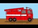 Интересный мультфильм для детей - Пазл Пожарная, полицейская машины, скорая помощь
