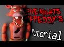 FOXY Five Nights At Freddy's Polymer Clay Tutorial | Porcelana Fría / Plastilina