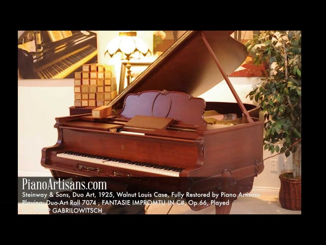 Chopin Fantasie Impromtu in C Played by Ossip Gabrilowitsch