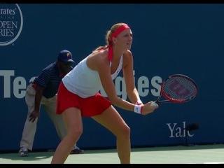 Lucie Safarova vs Petra Kvitova  FINAL New Haven Cup 2015 Part-1 [FULL HD]