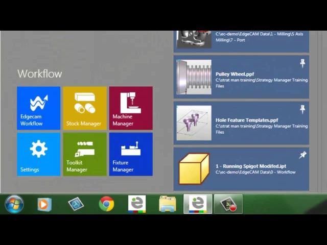 1 Edgecam TestDrive tutorial Introducing GUI and launcher