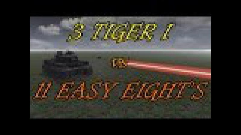 Men of War Assualt Squad 2 3 Tiger I vs 11 Shermans Realistic Ranges! Editor Scenario 11