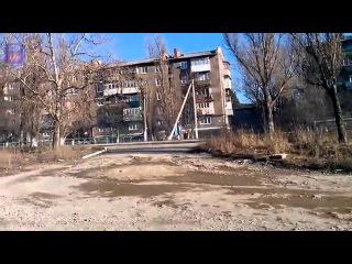 Танковая колонна РФ под Енакиево/Tank column of the R F near Enakievo