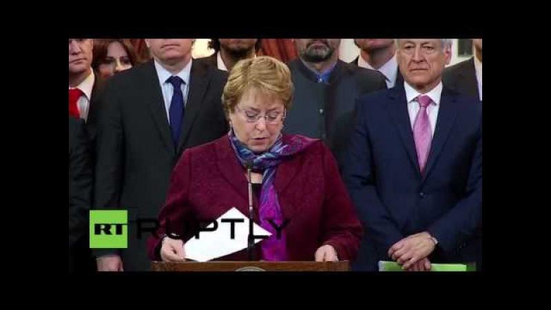 Чили: Бачелет освобождает прибыль Боливии из суда ООН.