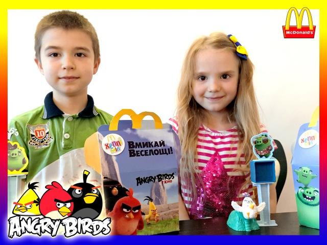 Энгри бердс в кино Angry Birds McDonalds Happy meal