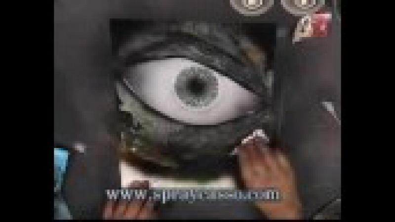 Eye c u * INTERMEDIATE spraypaint tutorial
