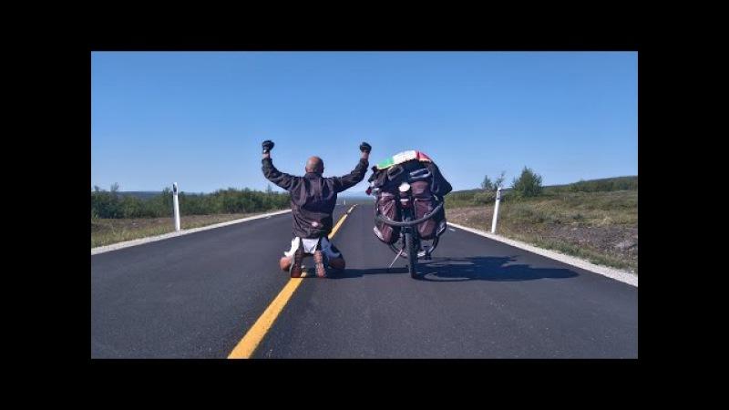 Verso l'estremo nord Amorosi Capo Nord in Bici