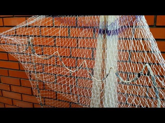 Подвязка карманов намёта кастинговой сети