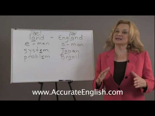 English Pronunciation vowel changes in stressed and unstressed syllables Accurate English