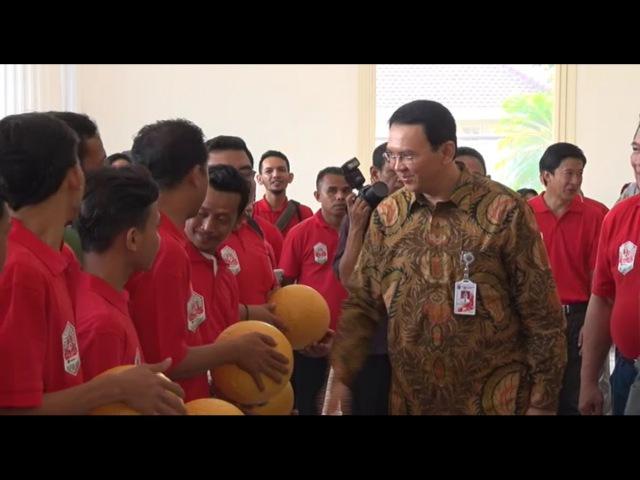 Ahok Launching Turnament Jakarta Football Festival Rusun Cup