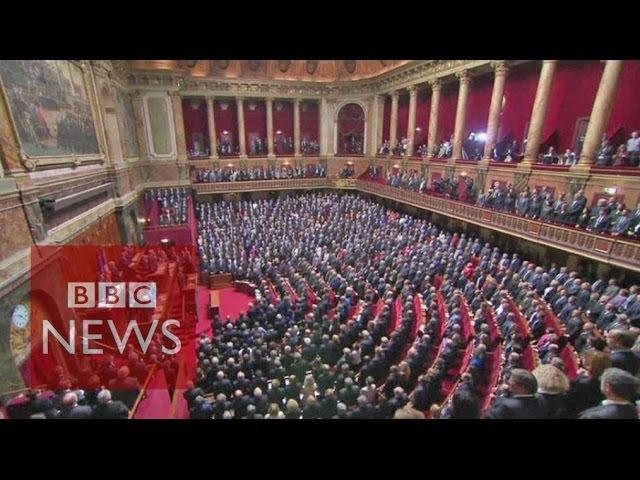 French parliament sings La Marseillaise BBC News