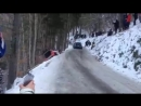 Elfyn Evans hits Robert Kubica SS3 Rally Monte Carlo 2016